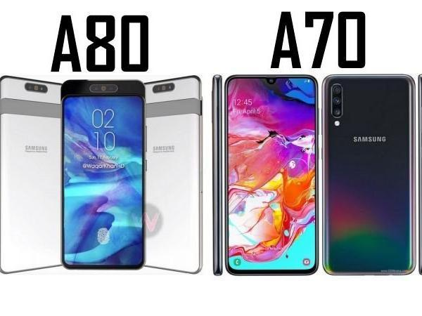Samsung  Galaxy A80 Launched With  Rotating Triple Camera - Sakshi
