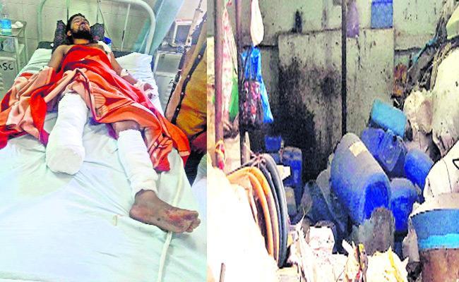 Blast In Chemical Godown Near Rajendra Nagar - Sakshi
