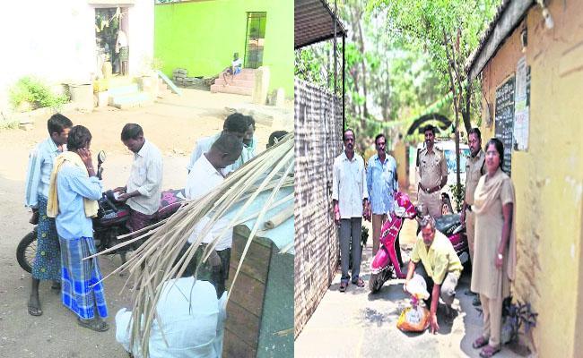 In TDP MLA Candidate Paritala Sreeram Constituency Wine Distributing To Voters - Sakshi