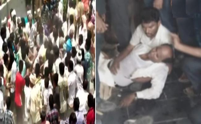 TDP Leaders Assaulted On YSRCP Leaders - Sakshi