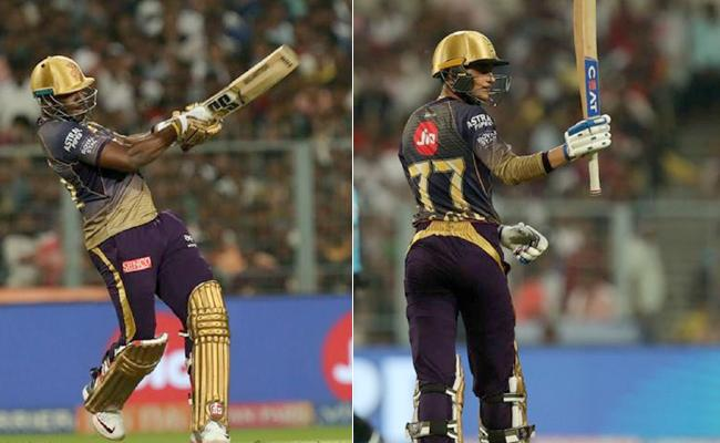 Russell, Gill give KKR 178 Against Delhi Capitals - Sakshi