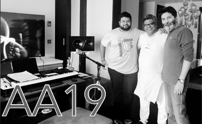 Allu Arjun And Trivikram Movie Music Sittings Started - Sakshi