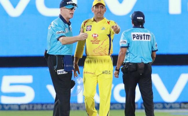 MS Dhoni Fined In CSK Vs RR Match Over Argument With Umpires On Field - Sakshi