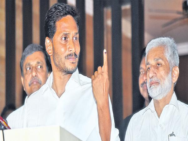 YS Jaganmohan Reddy Press Meet After Polling - Sakshi