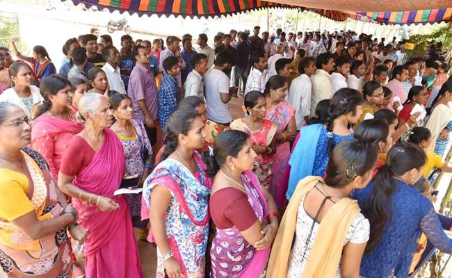 District Wise Voting Percentage In Andhra Pradesh - Sakshi