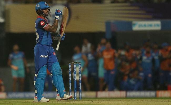IPL 2019 Dhawan Unbeaten 97 Helps Delhi Beat KKR By 7 Wickets - Sakshi