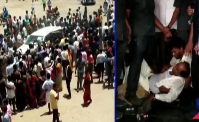Police Search Operation In Inimetla Village Over Kodela Sivaprasad Rao Attack Case - Sakshi