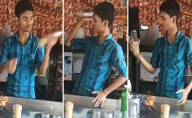Kerala Man Shows Bartending Skills Viral Video - Sakshi