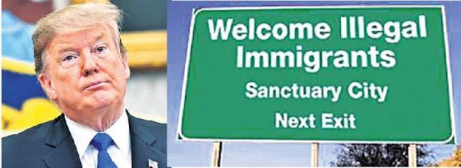 Transferring immigrants to sanctuary cities - Sakshi