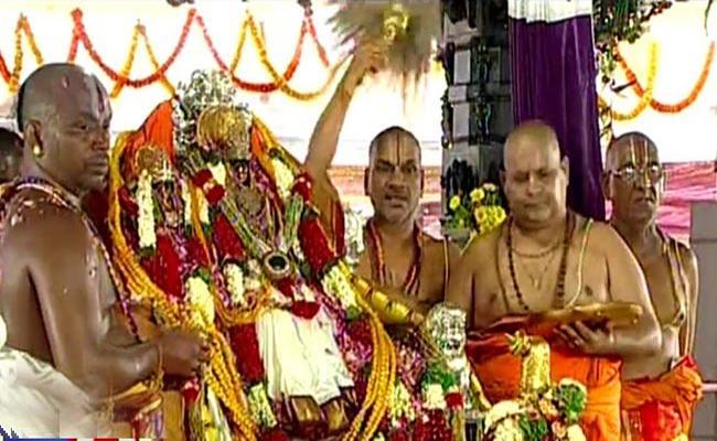 Sri Sita Rama Kalyanam Celebration In Khammam - Sakshi