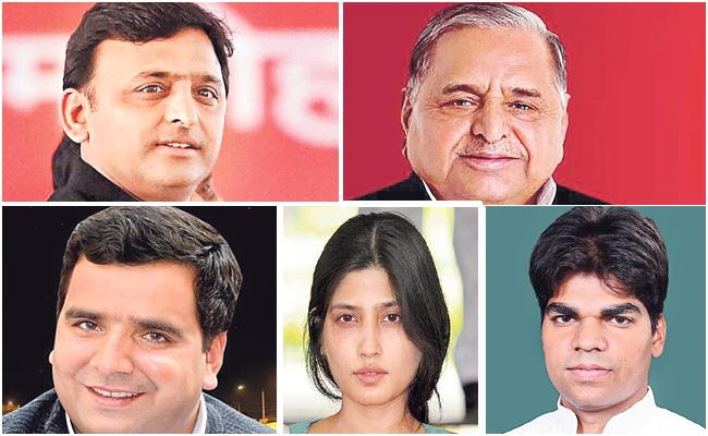 Five Members From Mulayam Singh Yadav Family Contest In LS Election - Sakshi