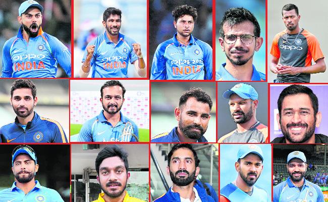 India team for 2019 World Cup named - Sakshi