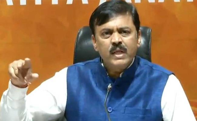 BJP MP GVL Narasimha Rao Slams Chandrababu In Delhi - Sakshi