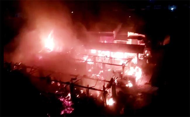Fire Accident in Vizianagaram - Sakshi
