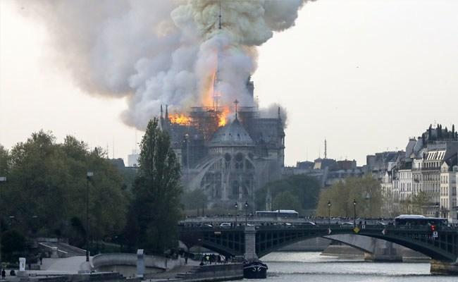 850-year-old Notre Dame Cathedral in Paris Partially Gutted in MassiveFire - Sakshi