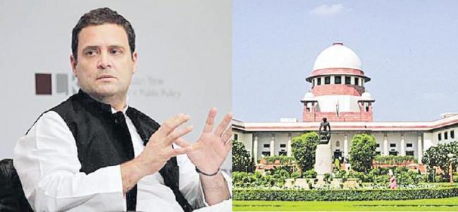 SC issues notice to Rahul Gandhi over remarks against PM Narendra modi - Sakshi