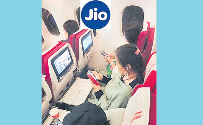jio application for connectivity in flight - Sakshi