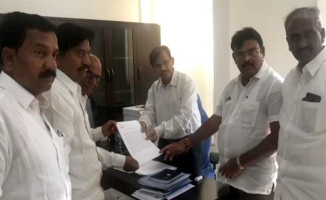 YSRCP Leaders Complains To AP CEO Gopal krishna Dwivedi Against  TDP Leader Kodela Shiva Prasad - Sakshi