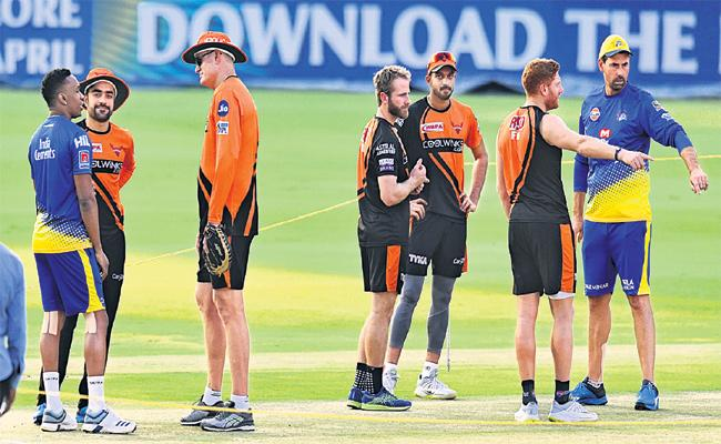 Today IPL Match Chennai Super Kings With Sun Risers Hyderabad - Sakshi