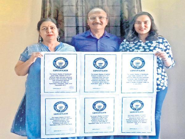 Sixth Guinness record of GITAM Deemed University Student - Sakshi