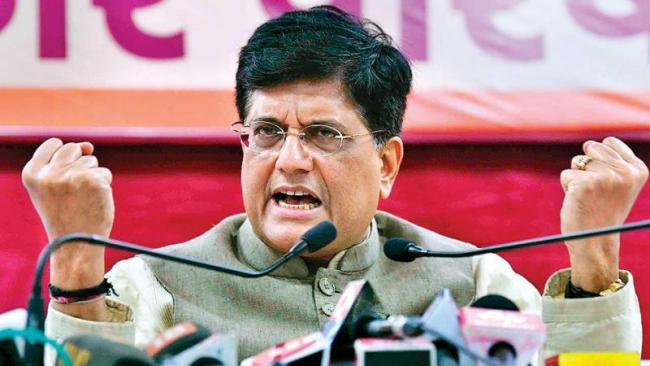 Piyush Goyal Says Congress Is Minus Leadership   - Sakshi