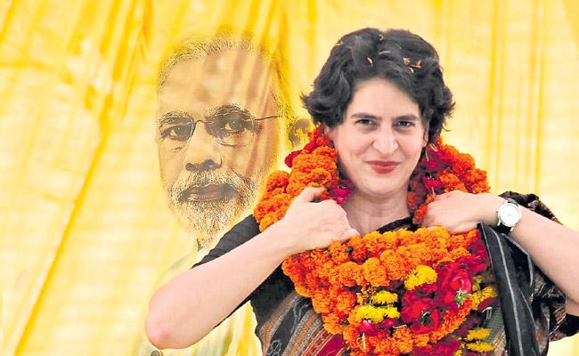 TDP and NCP are upholding Priyanka contribution to Narendra Modi - Sakshi