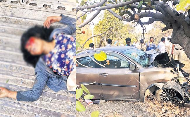 TV Artists Died in Car Accident Vikarabad - Sakshi