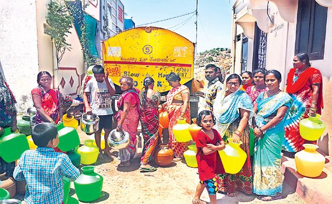 Water Problem in Greater Hyderabad - Sakshi