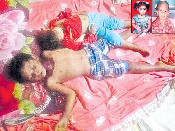 Father Attacked On His Three Kids and two died - Sakshi