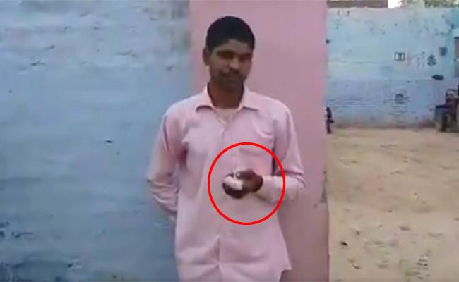 man chops off his finger after voting for BJP by mistake - Sakshi