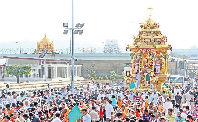 Swarna excursion on the golden chariot - Sakshi