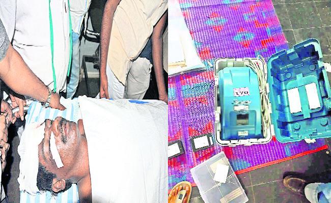 TDP Leaders Attack on YSRCP Leaders In Kuppam - Sakshi