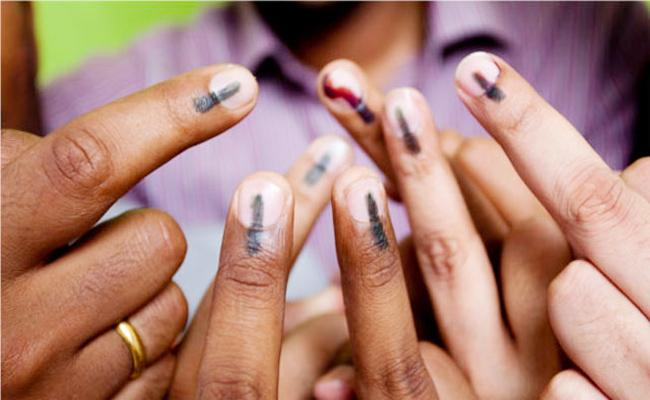 Karnataka Voters Trying to Vote Second Time - Sakshi