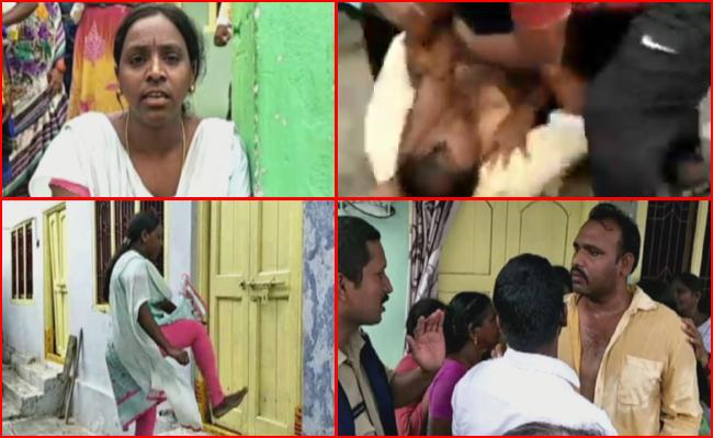 Wife Protests Over Second Marriage of Husband in kothagudem - Sakshi