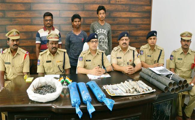 Three Maoists Arrested In Dummugudem - Sakshi