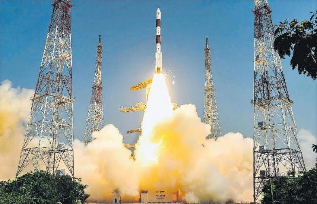 ISRO successfully launches PSLV C-45 Mission from Sriharikota - Sakshi