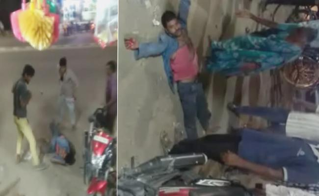 Rowdy Sheeters Attack On A Man In Nizamabad - Sakshi