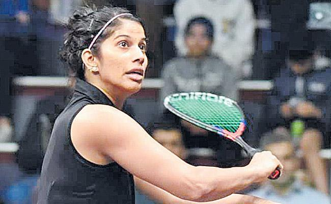 Joshna Chinappa loses to Second round - Sakshi