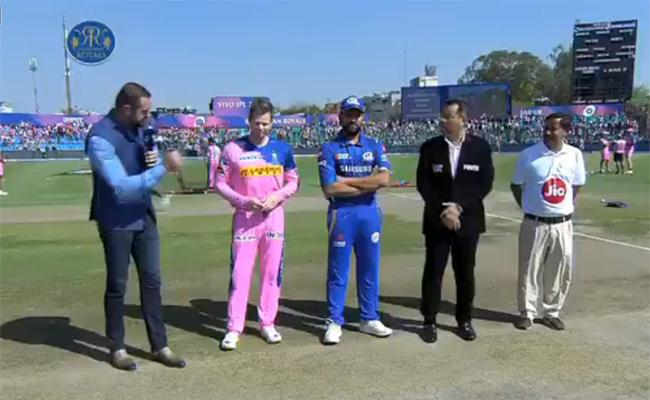 Buttler out, Rajasthan opted to field Against Mumbai Indians - Sakshi