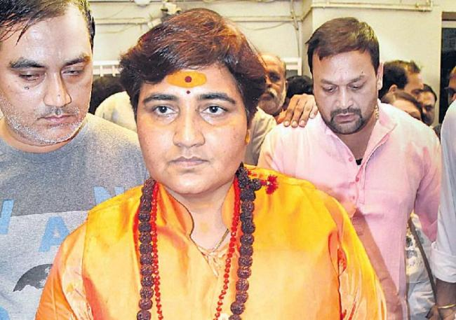 sadhvi pragya singh thakur controversial comments on hemanth karkare - Sakshi