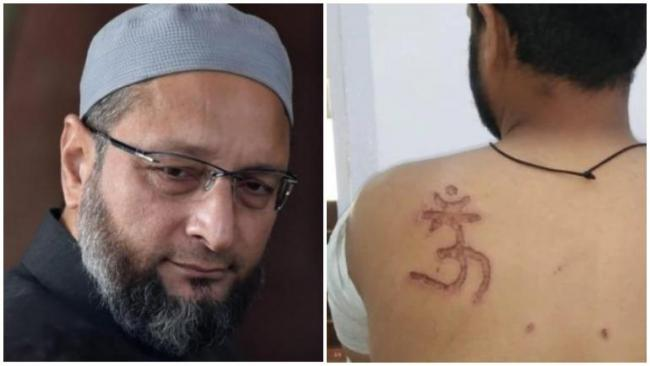 Asaduddin Owaisi On Muslim Inmate Branded With Om Symbol - Sakshi