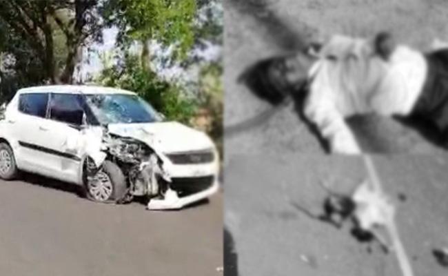Speeding car hits bike, Four killed in warangal rural - Sakshi