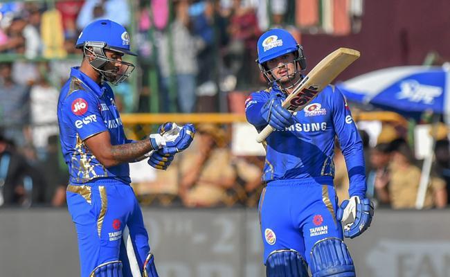 Mumbai Indians Set Target of 162 Runs Against Rajasthan - Sakshi
