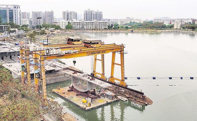 Cable Stay Bridge Works Speedup in Durgam Cheruvu - Sakshi