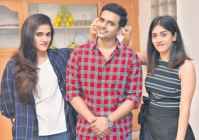 Sai Sushanth Chandini Simran  new Movie Opening - Sakshi