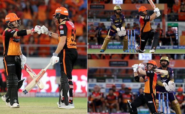 SRH Beat KKR By 9 Wickets - Sakshi
