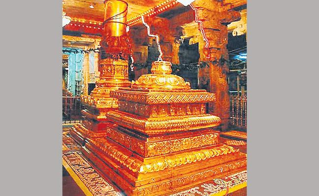 The Altars in the Ancient Temples are Not so Artistic - Sakshi