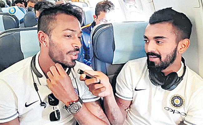 Hardik Pandya, KL Rahul fined Rs 20 lakh each for their controversial comments on a TV show - Sakshi