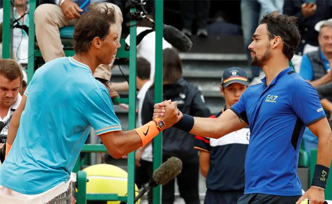 Rafael Nadal calls loss to Fognini one of my worst matches on clay in 14 years - Sakshi