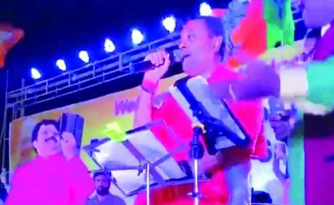 BJP Candidate Sambit Patra Songs Telugu Song in Odisha Election Campaign - Sakshi